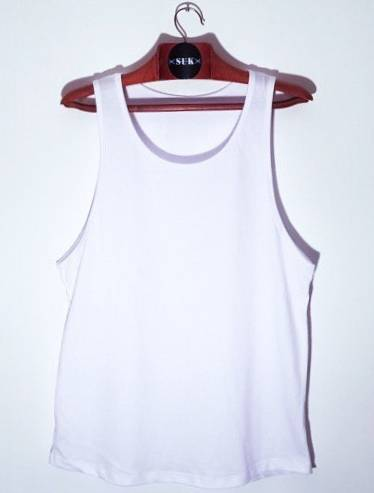 Musculosa Hombre Blanca Premium